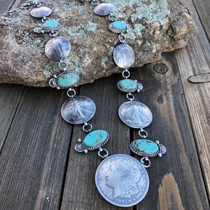 James McCabe Turquoise & Coin Necklace